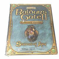 Baldur's Gate II 2 Collector's Edition Shadows of Amn Complete Big Box PC