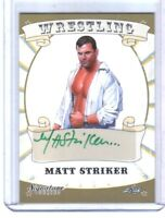 Matt Striker 2016 Leaf Wrestling Signature Series Autograph Card WWE Green Ink