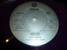 "BLACK SABBATH - Hard Road - 1978 UK 2-track PURPLE 7"" Vinyl Single"