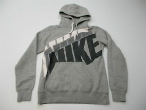 NIKE Hoodie Men's Size S Active Cotton Pull Over Long Sleeve Gray
