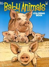 Coloring Book for Adults Baby Animals Images Inspire Stress Relieving Relax Kids