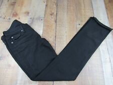 Seven For All Mankind Straight Leg Mid Rise Women's Black Jeans Size 26  (28x33)