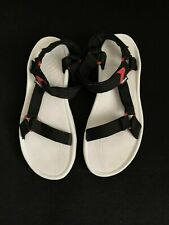 Mens teva White and black hook and loop Sports sandals size 13 S/N 4156