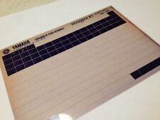 Yamaha RD50MX RD50 MX 5R0 1981 micro fiche parts list catalogue microfiche