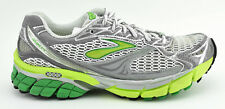 WOMENS BROOKS GHOST 4 RUNNING SHOES SIZE 7.5 US 38.5 EU GRAY WHITE GREEN SILVER