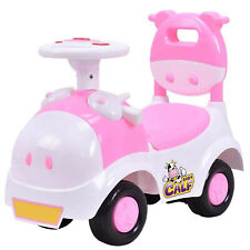 Baby Calf 3in1 Ride-on Scooter Cartoon Walker Pretend Play Cowgirl Pink Toy Car