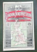 More details for l&nwr 1907 time tables + 7 maps london & north western railway