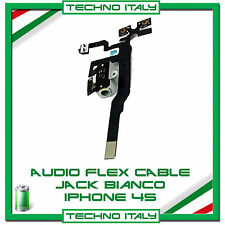 FLAT CONNETTORE JACK AUDIO VOLUME MUTE CUFFIA PER IPHONE 4S BIANCO FLEX