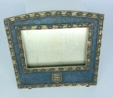 Signed Tiffany Studios Calendar / Picture Frame . Blue Heraldic style 2046