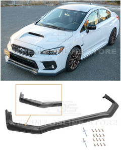 For 18-21 Subaru WRX STi CS Style PRIMER BLACK Front Bumper Lower Lip Splitter