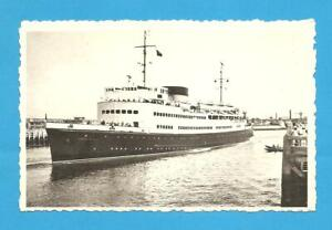 The Mail Boat, Ostend-Dover.  Postcard.