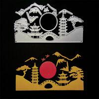Rising Sun Landscape Metal Cutting Dies for DIY Scrapbook Album Cards Making _ti