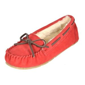 Women's Moccasin Slippers Faux Fur Suede Outdoor/Indoor Slip On Slippers