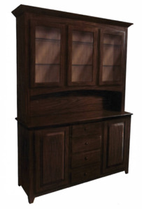 Custom Built for YOU! | Solid Wood Handcrafted Shaker 3 Door Hutch | USA Made!