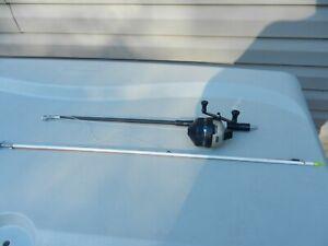 "Lot Vintage Zebco 808 Heavy Duty Reel Carp Set Up W/ 25"" Rod /Arrow Spear 90 Lb"