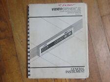 Lot 6 1980's Videociper II Satellite Receiver Service Manuals General Instrument