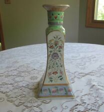 Vintage Hand Painted Chinese Porcelain Candlestick Holder Makers Mark