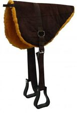 BROWN Suede Leather Bareback Saddle Pad w/ Fleece Bottom! NEW HORSE TACK!