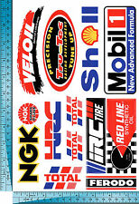 1 sh. ngk veliol mobil 1 HRC shell total oil racing decal sticker vinyl die cut