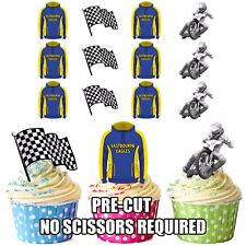 PRECUT Eastbourne Eagles Speedway Edible Cupcake Topper Cake Decorations