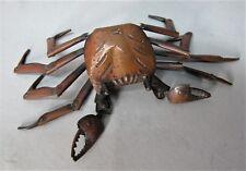 Fine JAPANESE MEIJI-ERA Copper Articulated of a Crab, Signed HIROYOSHI  c. 1880
