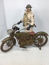 1/6 WW1 US 77TH DISPATCH RIDER & 1917 HARLEY-DAVIDSON MOTORCYCLE DRAGON DID BBI
