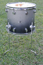 "PDP by DW 16"" FLOOR TOM X7 ALL MAPLE PLY SERIES SILVER 2 BLACK SPARKLE FADE D908"
