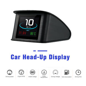OBD HUD Gauge Head Up Display Car Speedometer RPM Water Oil Temp Voltage Alarm