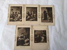 5 vintage advertising trade cards from De Moderne Boekhandel in Amsterdam