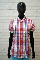 Camicia a Righe Donna TOMMY HILFIGER Taglia M Maglia Manica Corta Shirt Woman