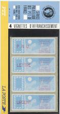 FRANCE VIGNETTES DE DISTRIBUTEUR LSA 75961 ATM 88-91 JAUNE