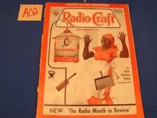 A02 VINTAGE DECEMBER 1933 RADIO-CRAFT MAGAZINE LIVE CANARY TALKS