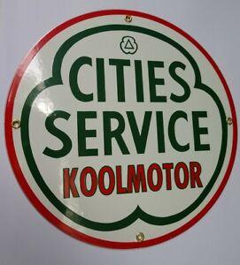 Cities Service Gas Oil Gasoline Porcelain Sign