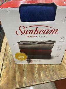 Sunbeam Velvet Plush Heated Blanket King Size,