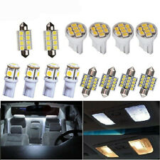 14PCS LED Interior Package Kit For T10 31mm Map Dome License Plate Lights White
