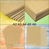 A2 A3 A4 A5 A6 BROWN KRAFT CARD STOCK BLANK CRAFT RECYCLED LOT PAPER 100- 300gsm