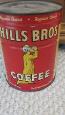 Vintage 1950s Hills Bros 2 Pound Tin Coffee Can NEW UNOPENED