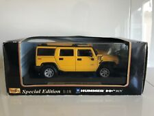 1:18 SCALE MAISTO HUMMER H2 SUV YELLOW SPECIAL EDITION DIECAST MODEL COLLECTION