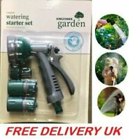 Garden Hose Pipe Tap Connector Fitting Water Attachments Nozzle Starter Set 4 PC