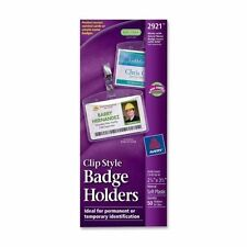 Avery 2 14 X 3 12 Badge Holder With Garment Friendly Clips 50pk Ave2921
