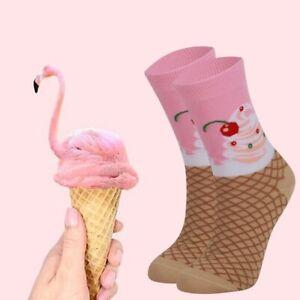 Women Ice Cream Socks Cute Socks Gift For Her Novelty Socks Funny Socks