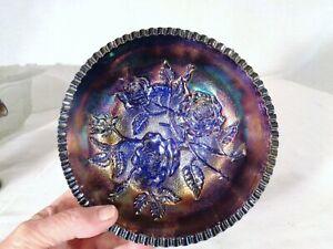 Imperial Lustre Rose Fernery in Blue Carnival Glass
