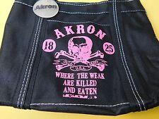 Akron Ohio Mini Tote Bag Purse Where the Weak are Killed and Eaten Black & Pink