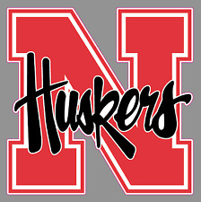 WinCraft NCAA Nebraska Cornhuskers 4x4 Perfect Cut White Decal Team Color One Size