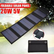 20W Solar Panels Folding Outdoor Waterproof Sun Power Solar Cells Charger 5V 2A