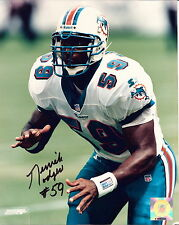 MIAMI DOLPHINS DERRICK ROGERS AUTOGRAPHED  8 X 10 COLOR PHOTO  !!!