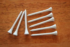 High Quality Brand New Wood Golf Tees 2 3/4 inch 250 pcs white color