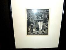 "Vintage Framed Woodengraving ""Punch & Judy""- Ethelbert White (English Engraver)"