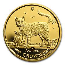 2002 Isle of Man 1/10 oz Gold Bengal Cat - SKU #43076