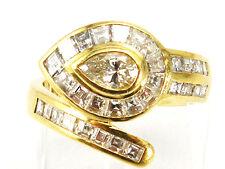 SOLID 18K YELLOW GOLD 2.51 CTW DIAMOND SNAKE RING. ESTATE!!